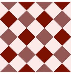 Crimson red fiesta white diamond chessboard vector