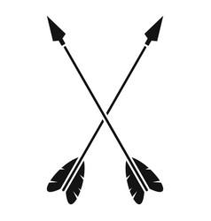 Crossed arrows icon simple style vector