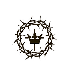 crown thorns and cross vector image
