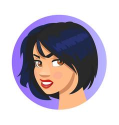 cute emoji character cartoon style emotion icon vector image