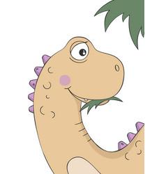 cute little dinosaur cartoon character vector image