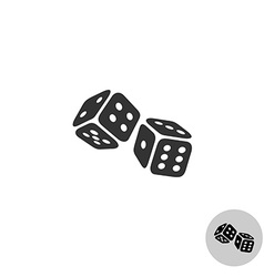 Dices logo vector image