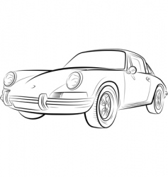 Drawing of the expensive car vector