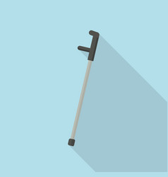 elbow crutch icon flat style vector image
