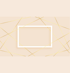 Elegant golden lines low poly abstract background vector
