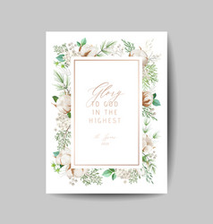 elegant merry christmas and new year 2020 card vector image