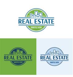 elegant real estate logo vector image
