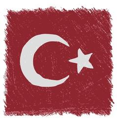 Flag of turkey handmade square shape vector