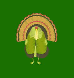 Flat shading style icon turkey vector