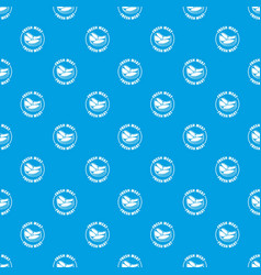 fresh meat pattern seamless blue vector image