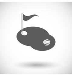 Golf single icon vector image