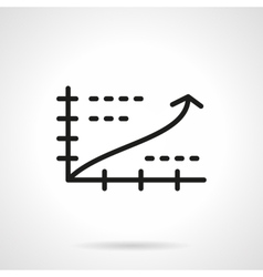Growth chart black simple line icon vector image