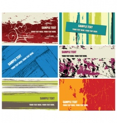 grunge business cards vector image