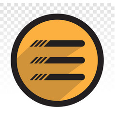Hamburger menu button flat icon for apps vector