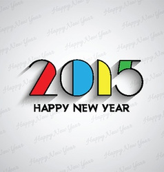 Happy new year typography background 2811 vector image