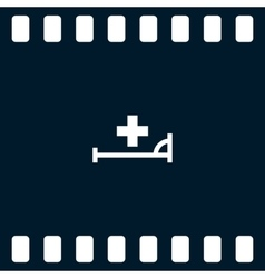 icon with bed and cross vector image