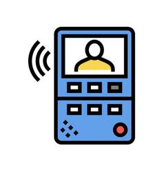 Intercom device color icon isolated vector