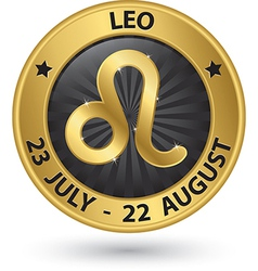 Leo zodiac gold sign leo symbol vector