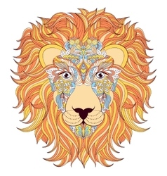 Lion on white background vector