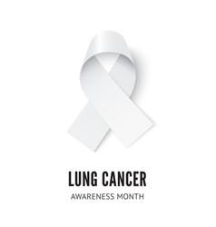 Lung cancer awareness ribbon vector