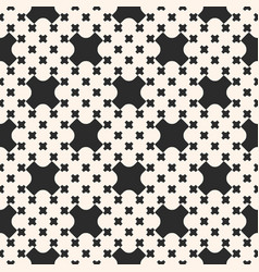 monochrome seamless pattern with crosses vector image