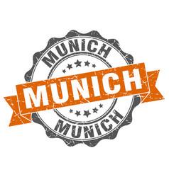 Munich round ribbon seal vector