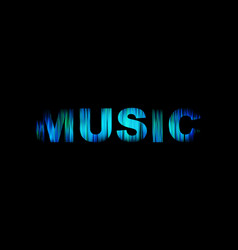 music logo abstract color word art vector image