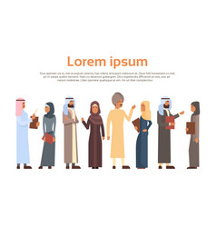 Muslim people crown business man and woman vector