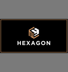 ny hexagon logo design inspiration vector image