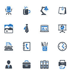 Office Icons-Blue Series vector image