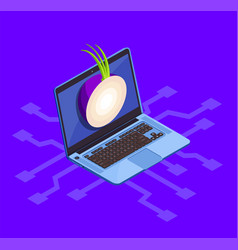 Onion cyber security concept vector
