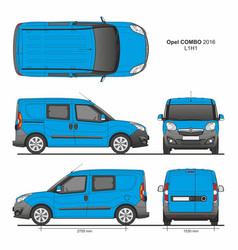 Opel combo 2016 l1h1 combi delivery van vector