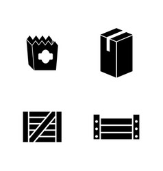 Package simple related icons vector