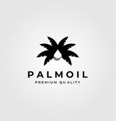 palm oil vintage minimalist logo symbol design vector image