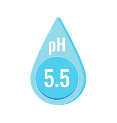 ph neutral skin balance icon isolated vector image
