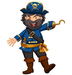 Pirate in blue clothing vector