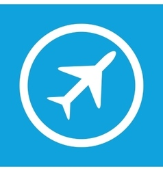 Plane sign icon vector image