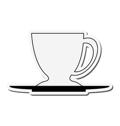 porcelain cup and plate icon vector image