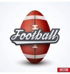 Premium American Football label vector image