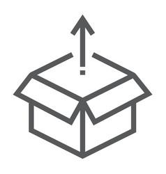 product release line icon development vector image