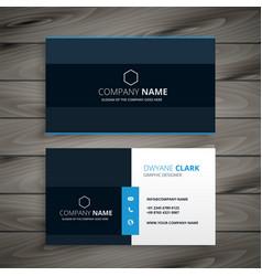 Professional blue dark business card design vector