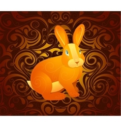 Rabbit as symbol for year 2023 vector