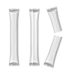 realistic blank wrap for salt 3d sachet for sugar vector image