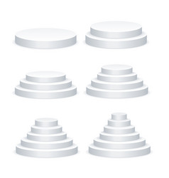 realistic detailed 3d white blank round podium vector image