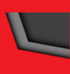 red grey arrow direction corner design vector image