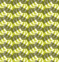 Retro fold striped hexagons turned vector