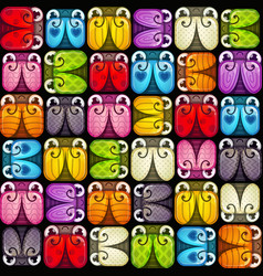 Seamless pattern with colorful bugs vector