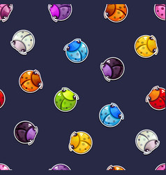 seamless pattern with colorful round bugs vector image