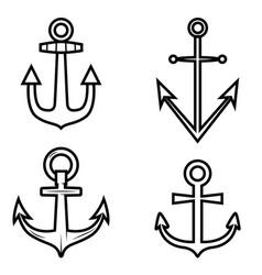 Set anchor icons design element for logo label vector
