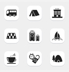Set of 9 editable holiday icons includes symbols vector